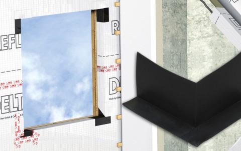 delta-fas corner фасонный уголок для герметизации углов, 100x150x190 мм