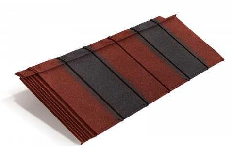 Композитная черепица Metrotile iPanel, красно-чёрный