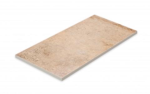 Террасная напольная плита STROEHER Gravel Blend  961 brown, размер 794x394x20