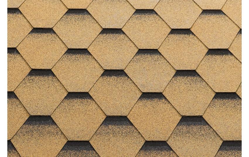 Гибкая черепица Katepal Katrilli, золотой песок, 3 кв.м
