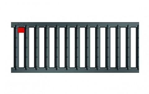 Решетка из оцинкованной стали с порошковым покрытием антрацит для каналов ACO SELF 0.5 м