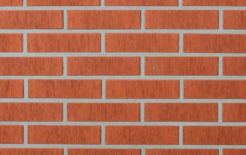 Облицовочный кирпич LODE Asais Janka поверхность штриховая, формат 0,7 NF красный