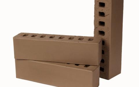 Облицовочный кирпич LODE Brunis поверхность гладкая, формат 0,5 NF коричневый