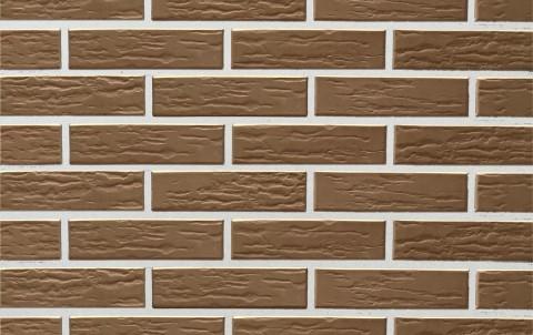 Облицовочный кирпич LODE Vecais Brunis поверхность ретро, формат 0,5 NF коричневый