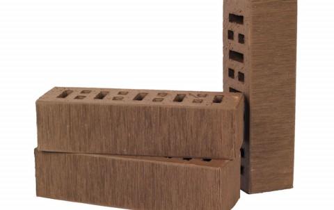 Облицовочный кирпич LODE Asais Brunis поверхность штриховая, формат 0,7 NF коричневый