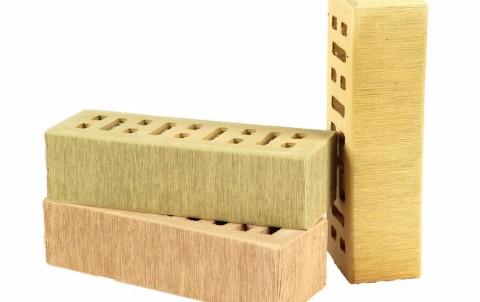 Облицовочный кирпич LODE Asa Austra поверхность штриховая, формат 0,7 NF желтый