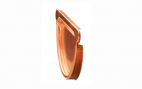 Водосточные системы ZAMBELLI заглушка желоба с уплотнителем, d=125 мм, медь