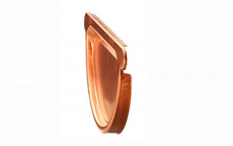 Водосточные системы ZAMBELLI заглушка желоба с уплотнителем, d=150 мм, медь