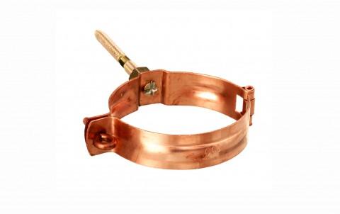 Водосточные системы ZAMBELLI крепление труб с резьбой, d=100 мм, медь