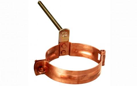 Водосточные системы ZAMBELLI крепление труб с шипом, d=87 мм, медь