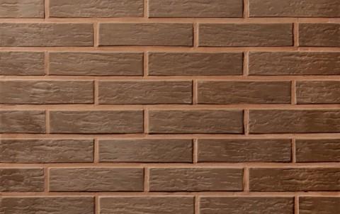 Облицовочный кирпич полнотелый LODE Vecais Brunis поверхность ретро, формат 1 NF коричневый