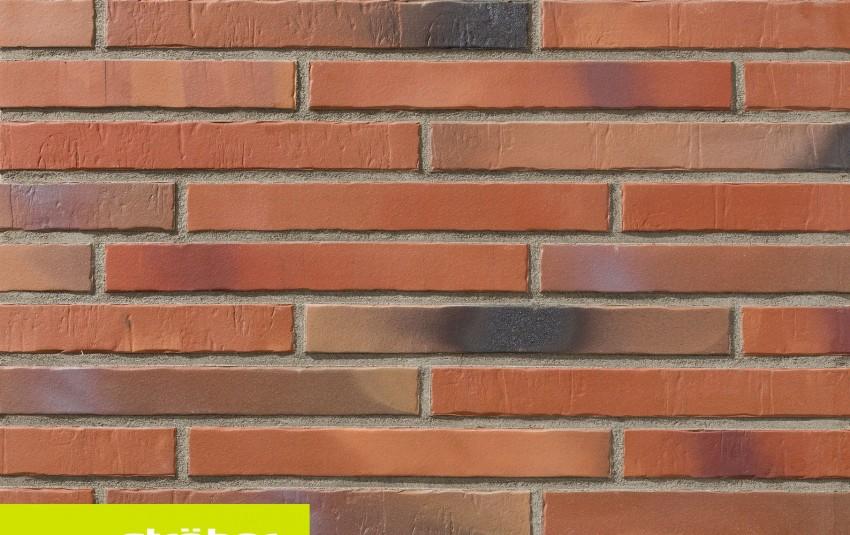 фасадная клинкерная плитка STROEHER Glanzstueck N 2, размер 440x52x14