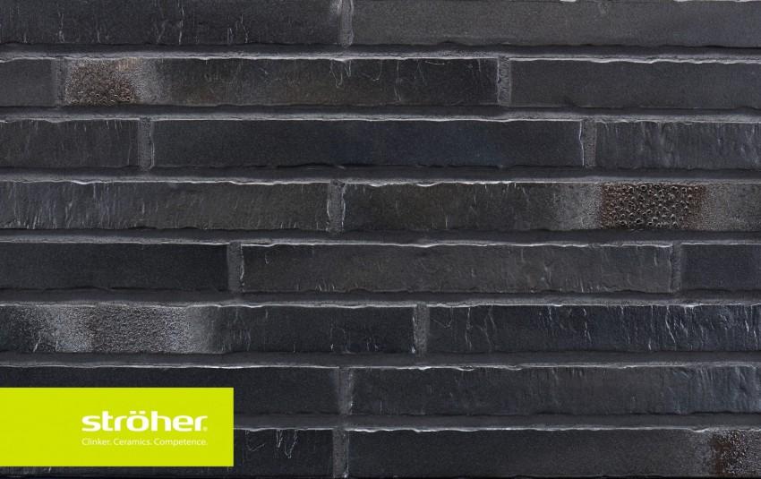 фасадная клинкерная плитка STROEHER Glanzstueck N 6, размер 490x52x14