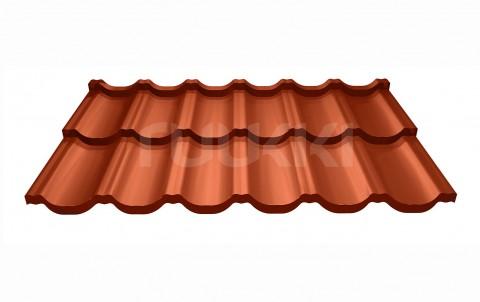 металлочерепица ruukki модульная кровля Finnera с покрытием purex, цвет rr750