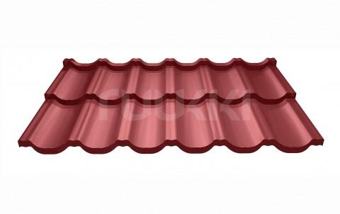 металлочерепица ruukki модульная кровля Finnera с покрытием purex, цвет rr29