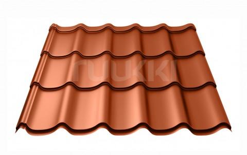 металлочерепица ruukki Monterrey Standart с покрытием Polyester, цвет rr750