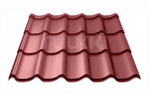 металлочерепица ruukki Monterrey Standart с покрытием Polyester, цвет rr29