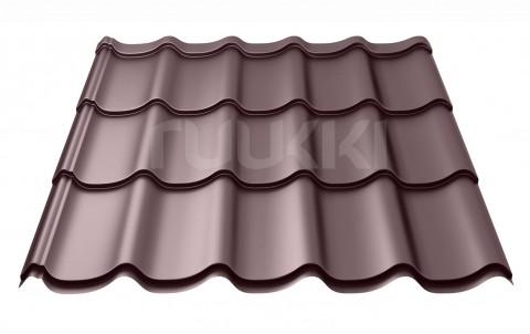металлочерепица ruukki Monterrey Standart с покрытием Polyester, цвет rr32