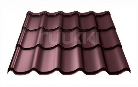 металлочерепица ruukki Monterrey Plus с покрытием Purex, цвет rr779