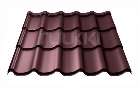 металлочерепица ruukki Monterrey Premium с покрытием Pural Matt, цвет rr779