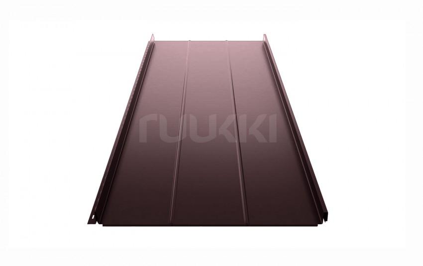 фальцевая кровля ruukki Classic с покрытием Pural Matt/Pural matt BT, цвет rr32