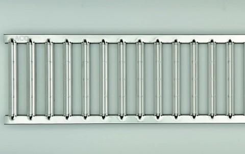Решетка электрополированная из нержавеющей стали для каналов ACO SELF 0.5 м