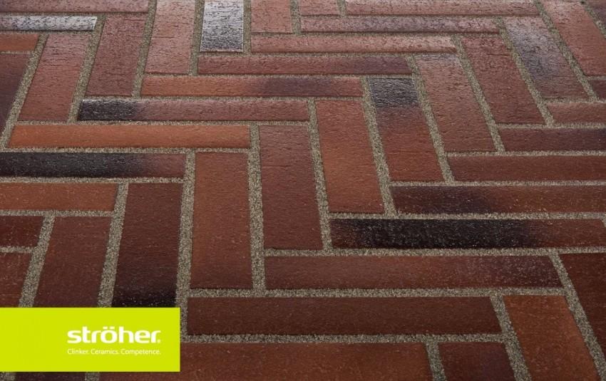 Тротуарная плитка STROEHER SPALTKLINKER, 240x52, red