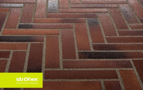 Тротуарная плитка STROEHER SPALTKLINKER, 240x115, темно-коричневый
