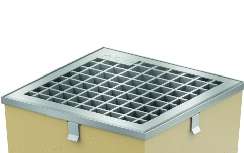 Решетка из оцинкованной стали ячеистая  для дождеприемника ACO SELF