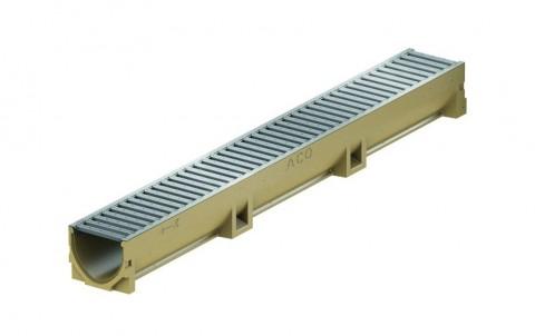 Канал АСО SELF Euroline с оцинкованной решеткой 100х11,8х10 см