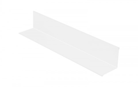 Планака угловая (внутренняя), алюминий, L=2 м.п., покрытие PE, цвет RAL9010