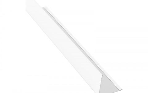 Планака угловая (внешняя), алюминий, L=2 м.п., покрытие PE, цвет RAL9010
