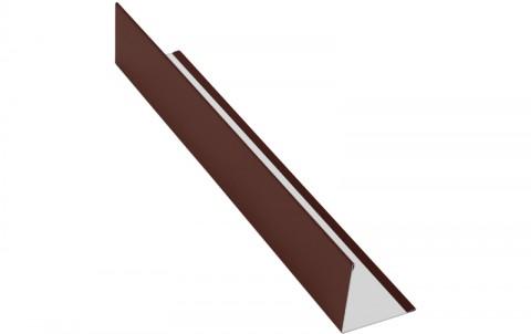 Планака угловая (внешняя), алюминий, L=2 м.п., покрытие PE, цвет RAL8017