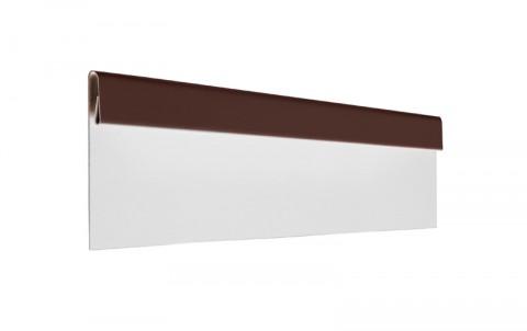 Финишная планка, алюминий, L=2 м.п., покрытие PE, цвет RAL8017