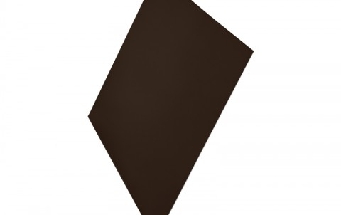 Ветровая планка AQUASYSTEM (L-профиль), H=250 мм, L=2 м.п., покрытие PE, цвет RR32