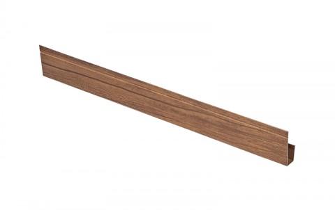 G-планка AQUASYSTEM, L=2 м.п., покрытие Printech Naive Maroon, цвет темное дерево