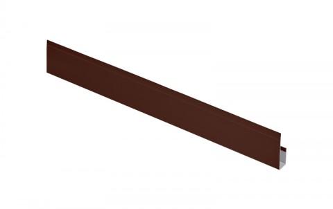 G-планка AQUASYSTEM, алюминий, L=2 м.п., покрытие PE, цвет RAL8017