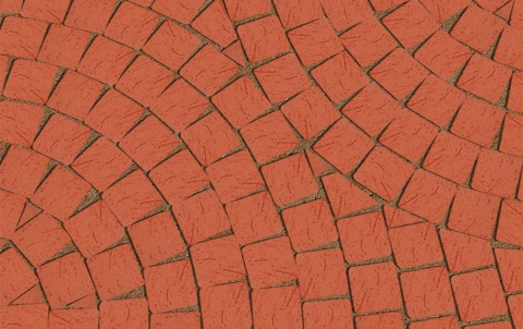 Клинкерная брусчатка LODE Janka 60x60x52 темно-красная