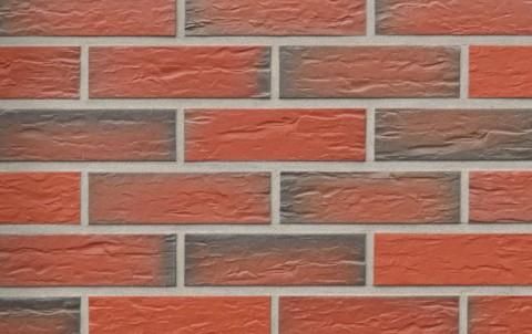 Фасадная клинкерная плитка ROBEN Rhön красно-коричневый, 240x9x71