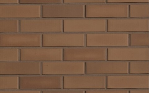 Фасадная клинкерная плитка ROBEN Braun glatt braun glat, NF