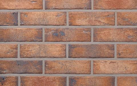 Фасадная клинкерная плитка ROBEN Manus java-carbon, NF рядовая