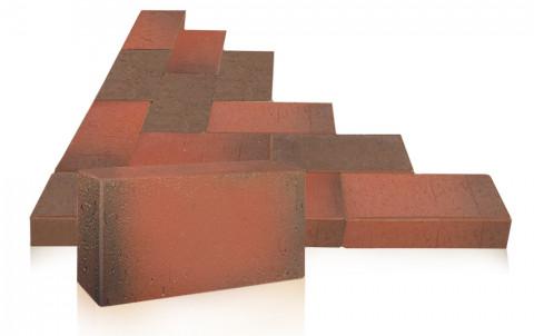 Клинкерная брусчатка ЛСР Ноттингем, красный флэшинг, 0.51 NF