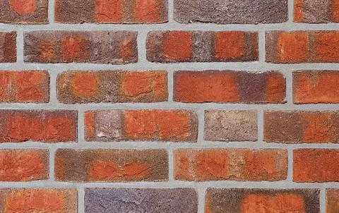 Фасадная плитка ручной формовки ROBEN WASSERSTRICH buntgeflammt, NF рядовая