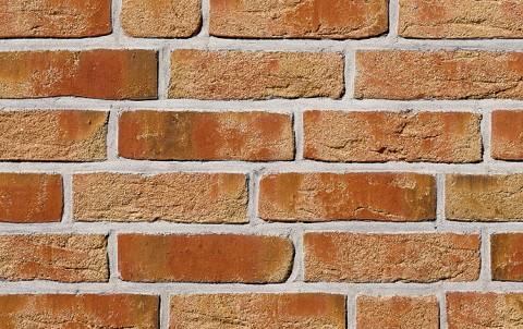 Фасадная плитка ручной формовки ROBEN Moorbrand sandgelb bunt, NF рядовая