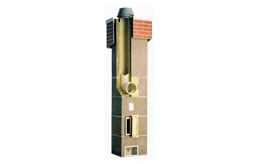 Комплект Schiedel UNI одноходовый с вентиляцией d=25L (8 пог.м)