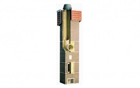 Комплект Schiedel UNI одноходовый без вентиляции d=25 (4 пог.м)