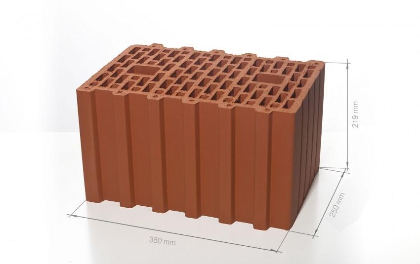 Поризованный керамический блок 38 BRAER Ceramic Thermo 10,7 NF