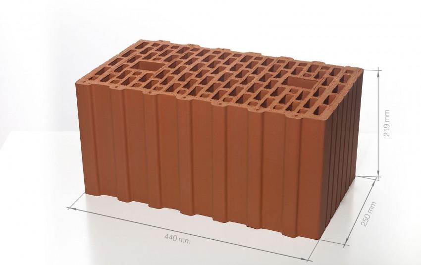 Поризованный керамический блок 44 BRAER Ceramic Thermo 12,4 NF