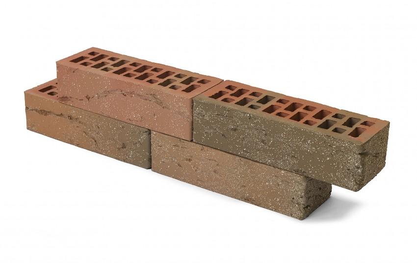 Облицовочный кирпич Браер, баварская кладка, кора дуба с песком, 0,7 нф, М-150