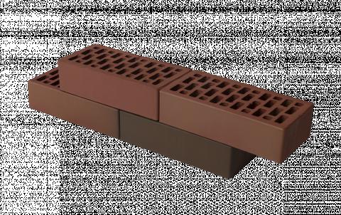 облицовочный кирпич  баварская кладка гладкий 1 нф бордо